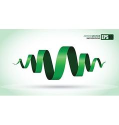 green spiral vector image