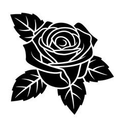 rose silhouette 004 vector image