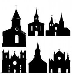 silhouette of church vector image vector image