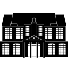 Classical house vector image vector image