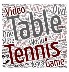 Go Get That Table Tennis DVD text background vector image