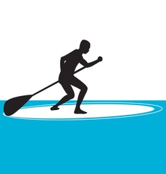 stand up paddle boarding vector image vector image