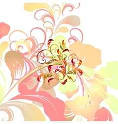 Colorful floral card vector image