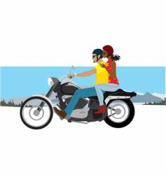 couple on motorcycle vector image vector image