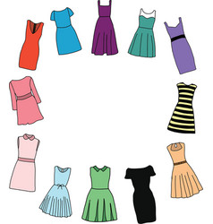 Fashion dresses for girl vector image vector image