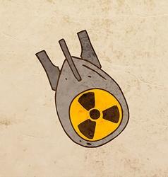 Nuclear Energy Power Symbol Cartoon vector image