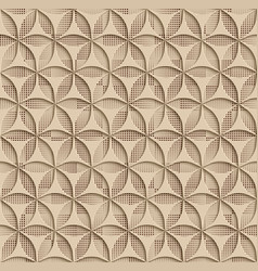 3d beige seamless abstract geometric pattern vector