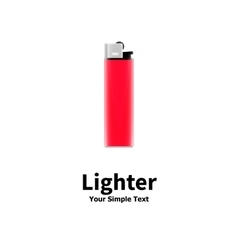 a red lighter vector image
