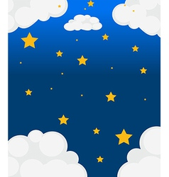 A sky with bright stars vector
