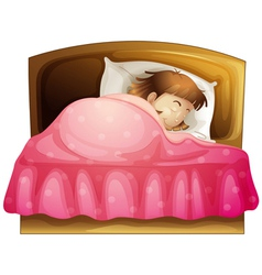 A sleeping girl vector image