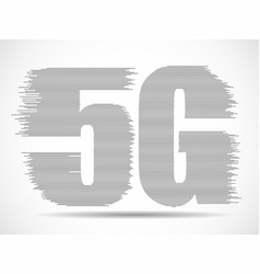 abstract 5g internet wirelles connection of vector image