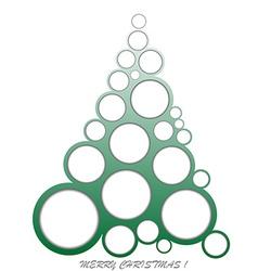 Abstract Christmas made of circles vector image