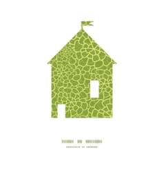 Abstract green natural texture house vector