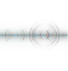abstract technological halftone wave background vector image