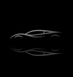 Auto sports car silhouette design vector