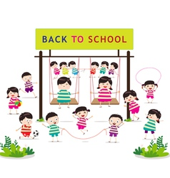 back to school funny playing vector image