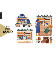 Bakery - small business graphics - set vector