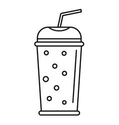banana kiwi smoothie icon outline style vector image
