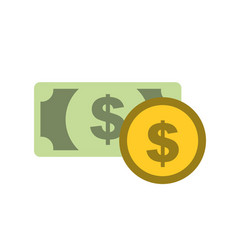 bank banknote and coin money currency vector image