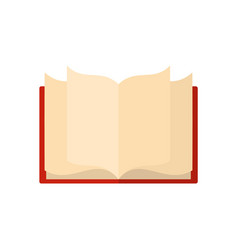 Book learning icon flat style vector