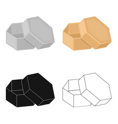 box packing paper and other web icon in cartoon vector image