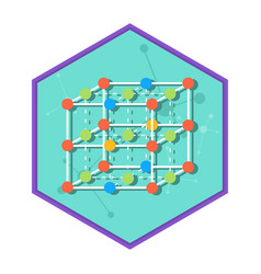 chemical laboratory molecule vector image