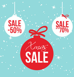 christmas ball retail sale design vector image