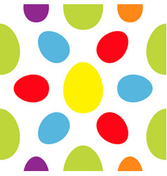 colorful seamless pattern happy easter painting vector image