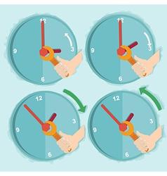Daylight saving time vector