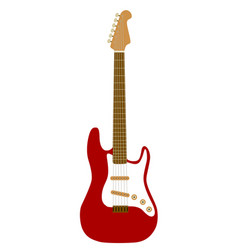 electric red guitar vector image