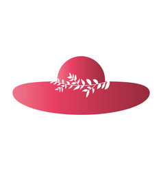 female hat with leaves vector image