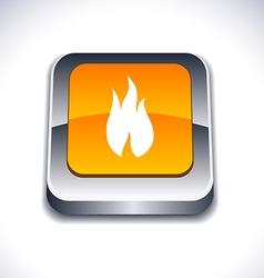 Fire 3d button vector