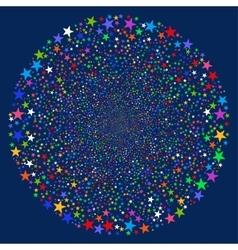 Fireworks Star Sphere vector image