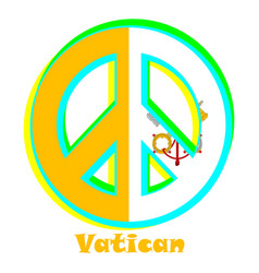 Flag of vatican city as a sign of pacifism vector