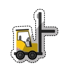 Forklift delivery cargo vector