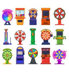gambling slot machines arcade video games casino vector image
