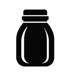 Glass jar for jam or honey icon simple style vector