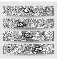 Graphics hand-drawn Love and Valentines vector image
