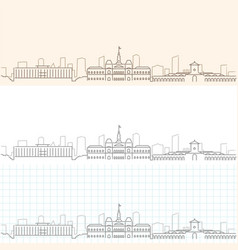 ho chi minh hand drawn skyline vector image