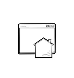 home page hand drawn outline doodle icon vector image
