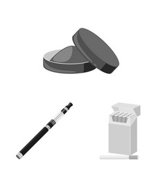 Isolated object health and nicotine symbol set vector