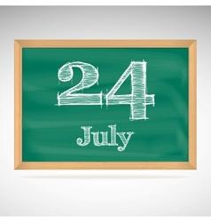 July 24 day calendar school board date vector