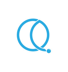 Letter q loop circle motion object logo vector