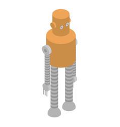 Long legs robot icon isometric style vector