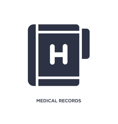 medical records icon on white background simple vector image