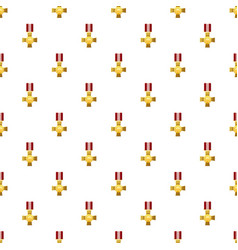 Military cross pattern vector