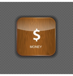 Money wood application icons vector image