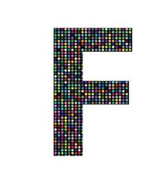 Multicolor letter F vector