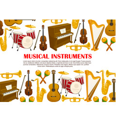 music poster of musical instruments vector image