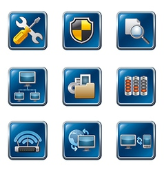 network button set vector image